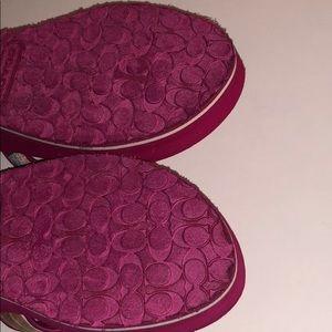 "Coach Shoes - Coach Jaycee 7B foam wedge sandals. 2"" heel, clean"
